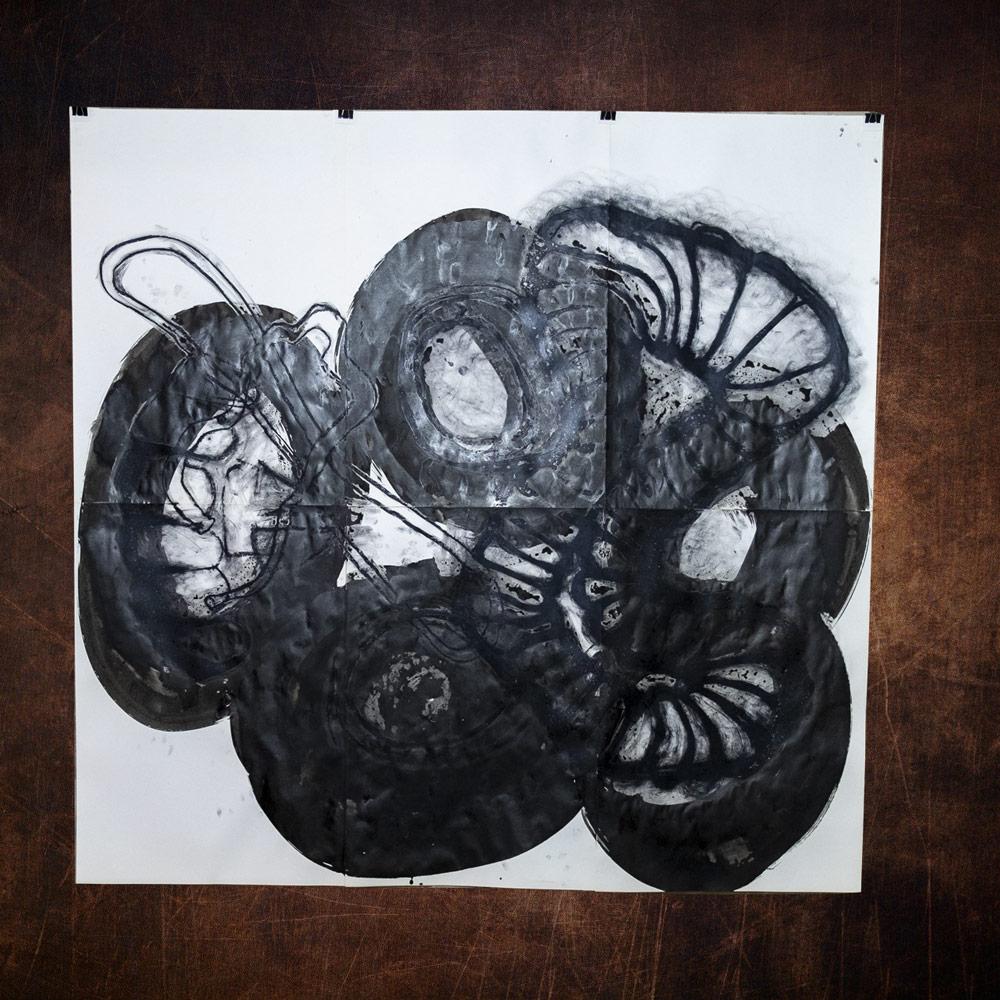 HOLE IN THE GROUND_Chinatusche_Oelkreide auf Papier_180 x200 cm _2019